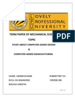 Term Paper of Mechanical Sciences