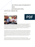 Estilos de Vida Saludables y Relaciones Interpersonales Del Adulto Mayor 1