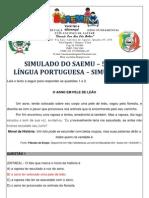 SIMULADO - 5º ANO - LÍNGUA PORTUGUESA - SIMULAÇÃO 1 - GABARITADO