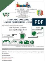 SIMULADO - 5º ANO - LÍNGUA PORTUGUESA - SIMULAÇÃO 12 - GABARITADO