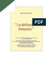 Bergson - La philosophie française