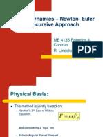 Robot Dynamics - Newton- Euler Recursive ApproachP3