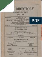 1940-41 City Directory - Hobart, Indiana