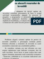 Optimizarea Alocarii Resurselor de Investitii-3
