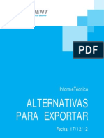 Informe Clement_Alternativas de exportación para compensación de importaciones