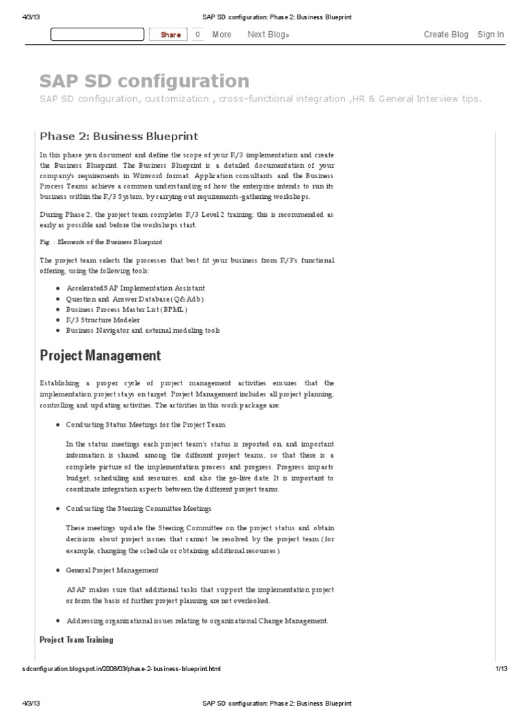 Latest sap sd configuration phase 2 business blueprint latest sap sd configuration phase 2 business blueprint business process project management malvernweather Gallery