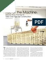 Article on 'Robotics in High Rise Construction' by Chaitanya Raj Goyal