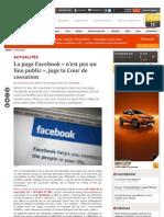Page Facebook n'Est Pas Un Lieu Public