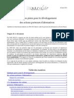 Quelques Pistes Pour Le Developpement Des Actions Porteuses Dalternatives