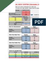 CALCULADORA METABOLICA (simplificada)