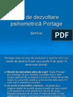 Fisa de Dezvoltare Psihomotrica Portage