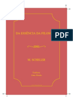 Scheler Essencia Da Filosofia