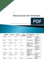 Observación de minerales
