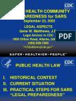 Public Health Community Preparedness for Sars