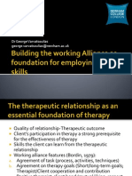 Building the Working Alliance as Foundation for Employing CBT Skills