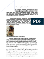 How Dose Global Warming Effect Animals