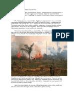 Impact of Global Warming in Costa Rica