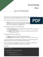 My Java Training