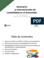 Seminario:Normas Internacionales deContabilidad en el Actuariado