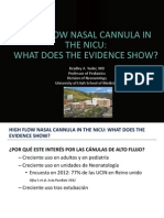 High Flow Nasal Cannula in the Nicu- What Does the Evidence Show