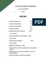 PROPOSTA DE PLANO DE MISSÃO