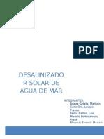 DESALINIZACIÓN SOLAR DE AGUA DE MAR