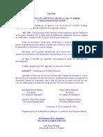 LEY 2341 DEL 03 QUE MODIFICA EL ARTÍCULO 136 DE LA LEY N° 128698