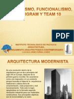 Racionalismo Funcionalismo Archigram y Team 10 Presentacion
