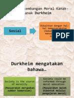 Teori Perkembangan Moral Kanak-Kanak Durkheim