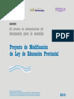 Proyecto de Modificacion de Ley de Educacion - Ley16.9