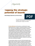Tapping the Strategic Potential of Boards