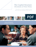 The Capital Structure Decisions of New Firms