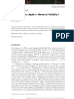 An Argument Against General Validity_Rohan French