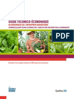 Guide technico-économique de démarrage de l'entreprise maraîchère et commercialisant ASC