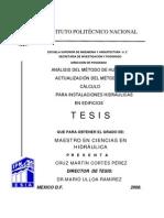 Analisis Del Metodo de Hunter y Actualizacion Del Metodo de Calculo Para Instalaciones Hidraulicas en Edificios