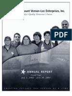2004 MVLE Annual Report