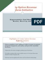 Rep. Paul Marquart - County Option Revenue Reform Initiative
