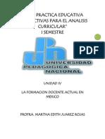 la formacion docente actual en México