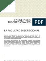 FACULTADES DISCRECIONALES