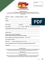 Participant's Solidarity Form  Agno River Trek2Protect 2013