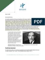 Hayman Letter