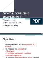Chapter 3 - Introduction to C