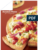 Boston Pizza Menu