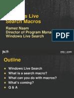 Windows Live Search Macros