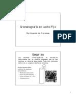 Cromatografía en lecho fijo