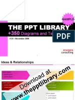The PPT Library - More than 350 diagrams and templates