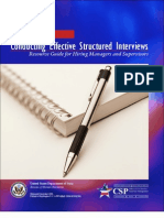 Conducting Effective Structured Interviews