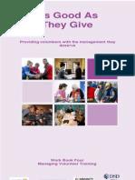 Workbook 4 Managing Volunteer Training 2013