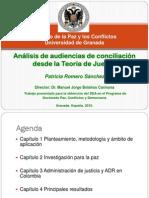 Análisis Audiencias de Conciliación desde la Teoría de Juegos Tesina IPAZ UGR Patricia Romero Sánchez