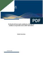 Evolucion Mercado Cambiario Tipo Cambio Ene07-Abr11